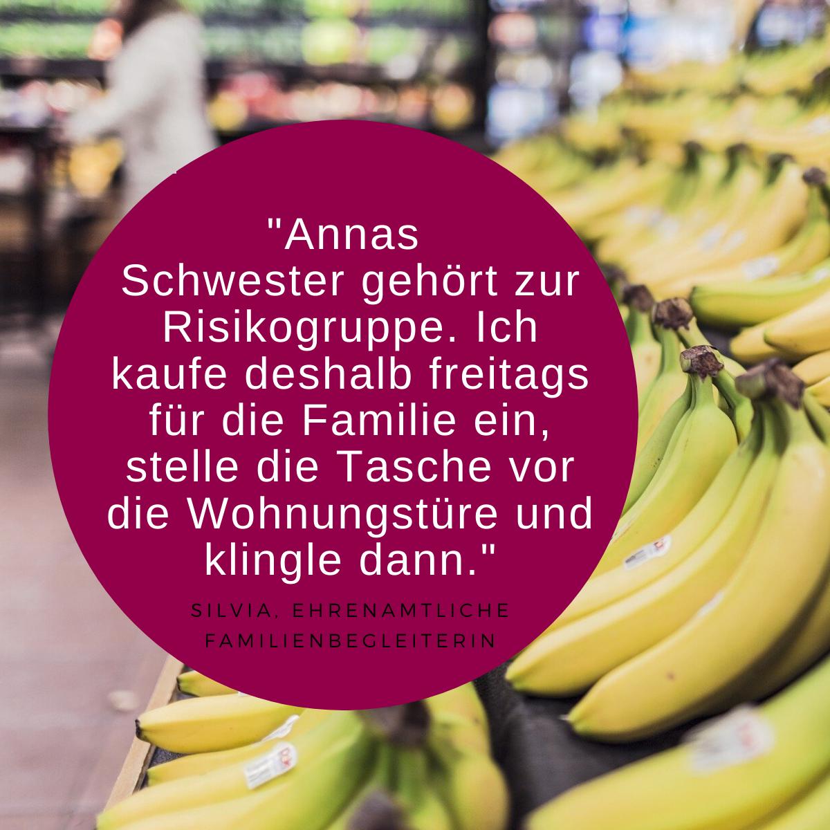 Zitat Ehrenamt und Bild Bananen
