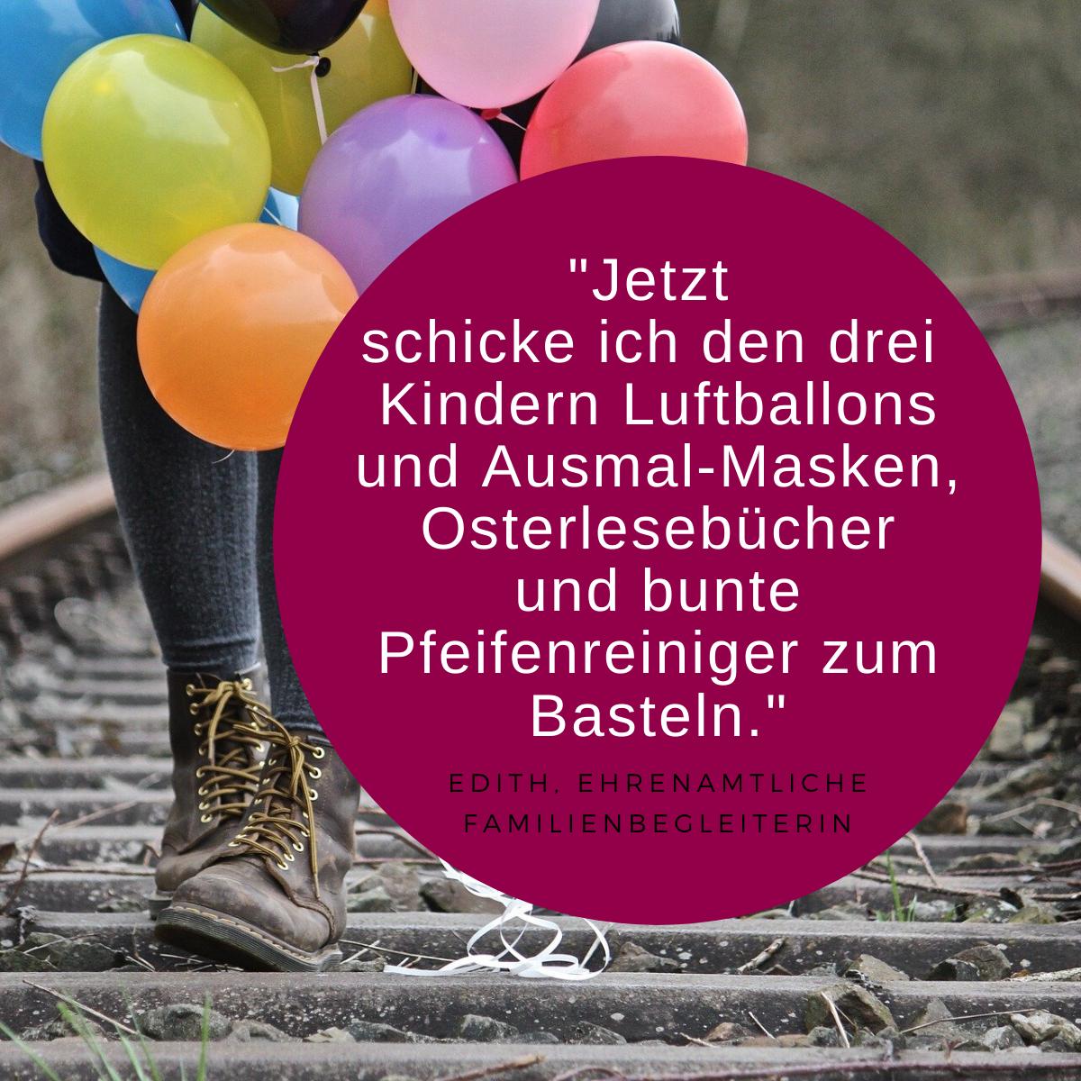 Zitat Ehrenamt und Bild Luftballons