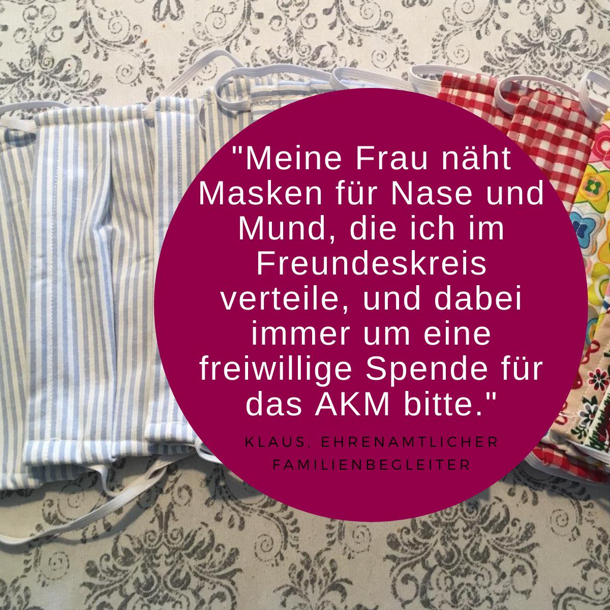 Zitat Ehrenamt und Bild Mundschutz