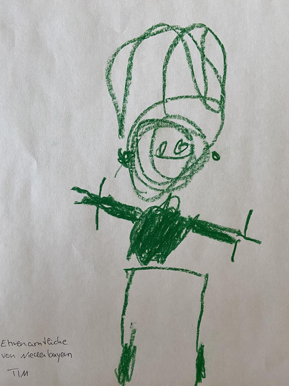 Zeichnung unserer Ehrenamtlichen durch die Kinder unserer Mitarbeiterinnen