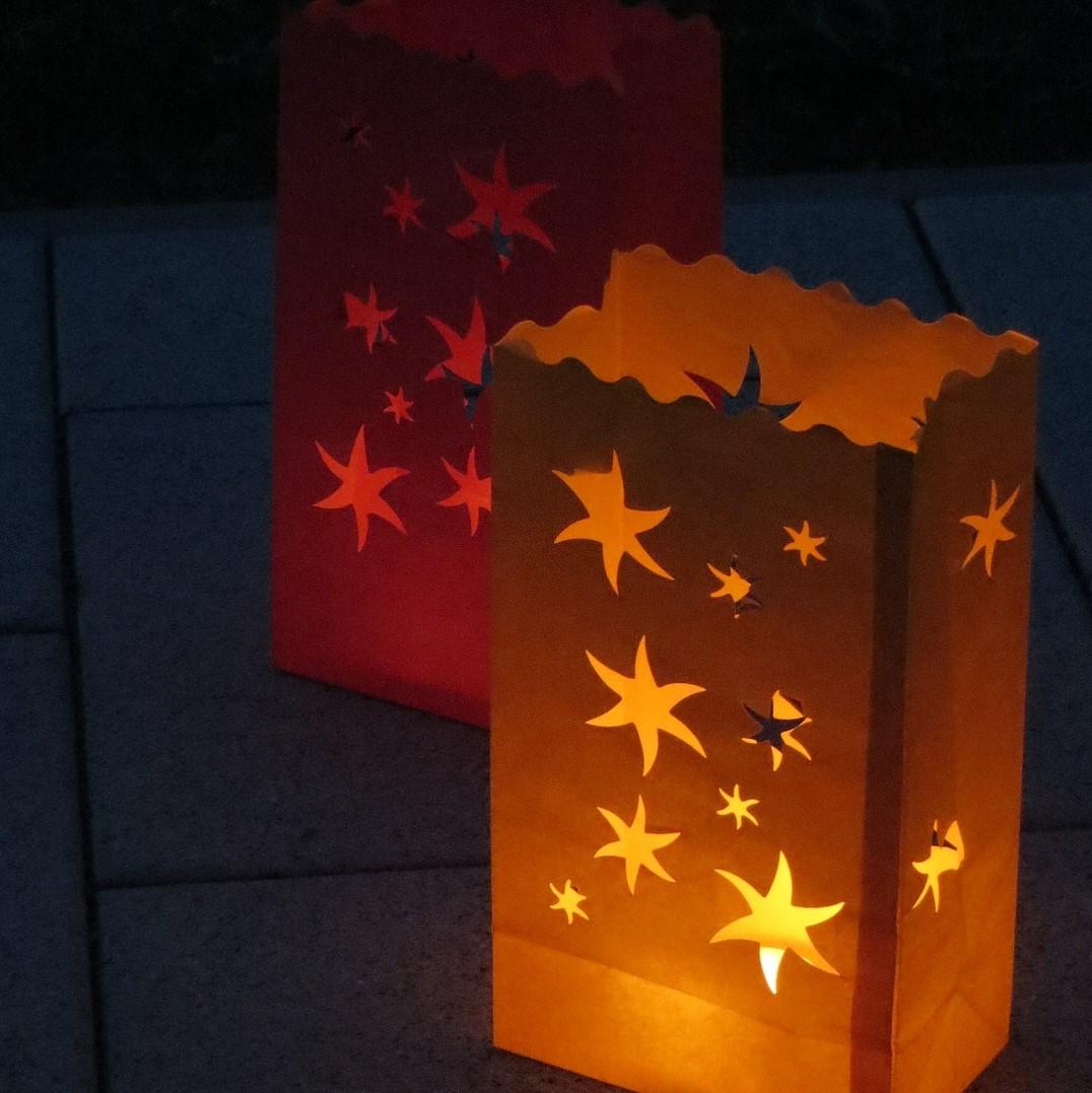 Laternen mit Sternen