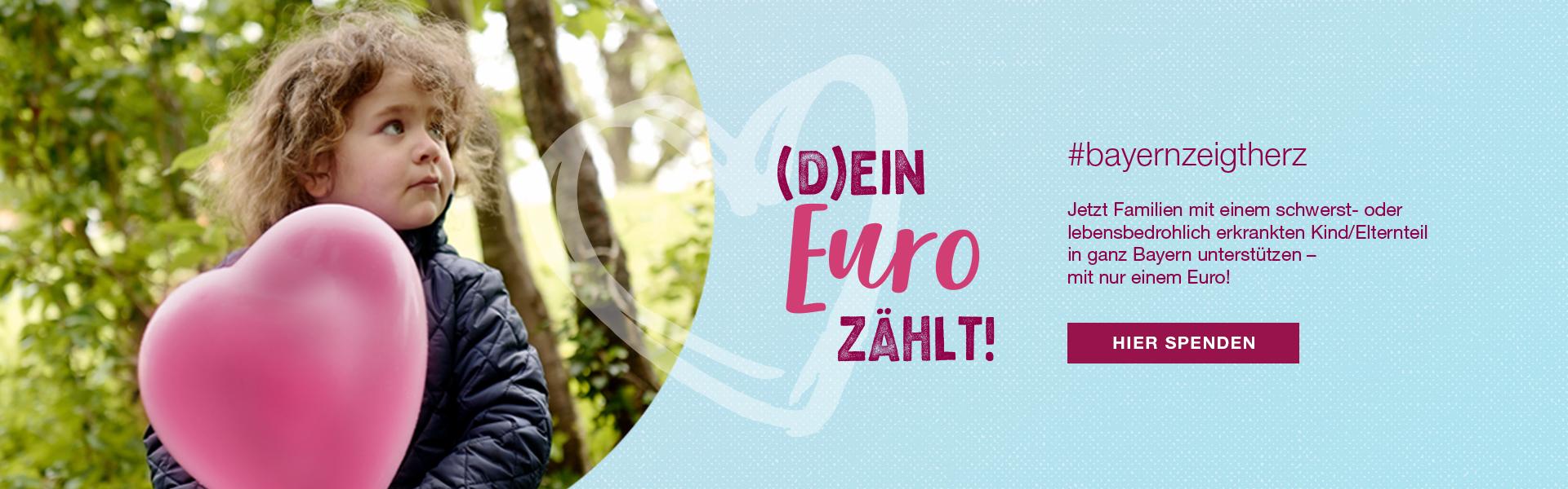 Bayern zeigt Herz Ein Euro Aktion